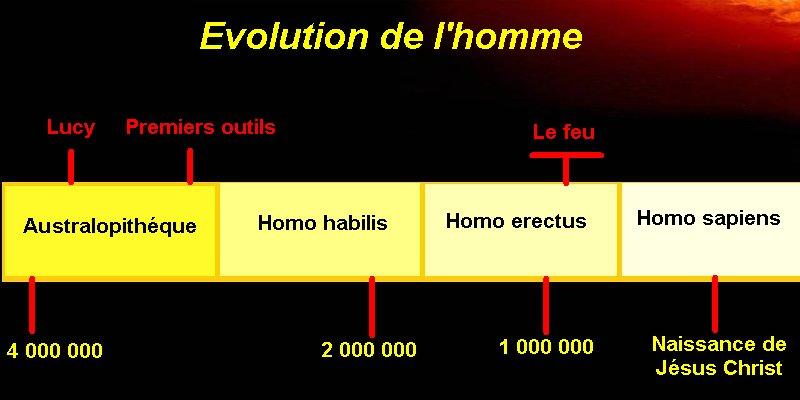 frise: l'évolution de l'homme